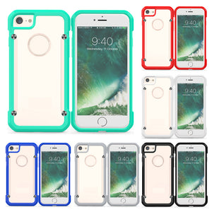 Protection Case PC Backboard for IPhone 7/8 TPU Border Hard Anti-drop Beetle Protective Case