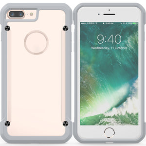 Cellphone Case Beetle No Discoloration Hard Back Cover TPU Border for IPhone 7/8plus Men Phone Shell