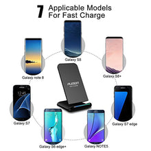 Load image into Gallery viewer, Fast Wireless Charger Cell Charging Pad Stand for Samsung Galaxy Note 8 S8 S7 Edge Note 5 Standard Charge for iPhone X iPhone 8 iPhone 8 Plus-No AC Adapter