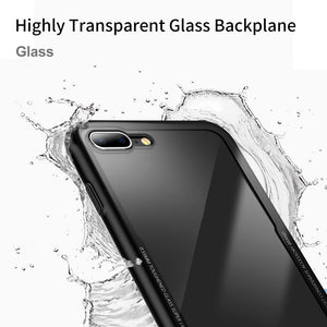 Protective Cover Anti-drop for IPhone 7/8plus TPU Silicone Scratch-proof Hard Transparent Tempered Glass