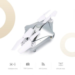 H44WH Stylish Diamond Shape Foldable Drone 720P WiFi Camera Quadcopter Selfie Drone Remote Control Headless Mode Helicopter