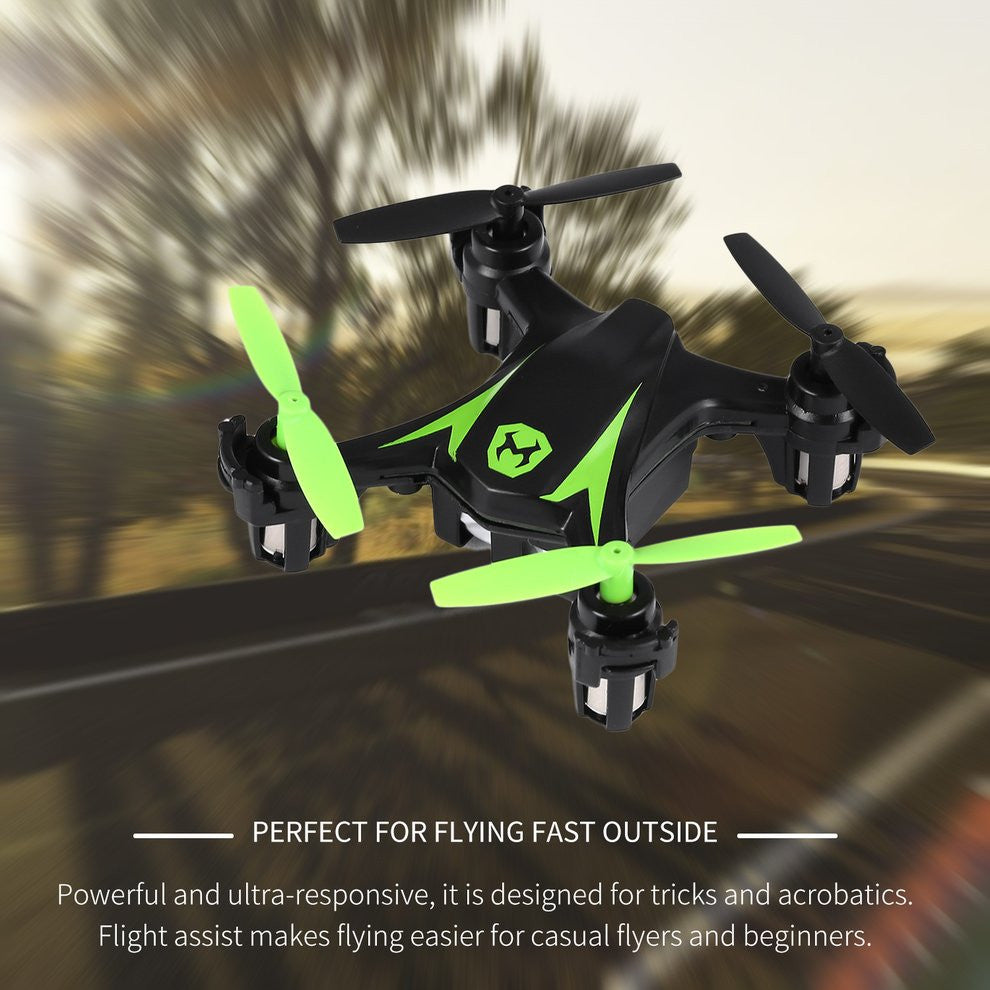 2.4Ghz 4CH RC Mini Drone Remote Control Helicopter One-touch Stunts Battery-powered Quadcopter Auto Hover Flight Assist Drone