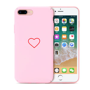 Mobile Protection Case PC Hard for IPhone 7/8plus Anti-drop Cellphone Case Silk Screen Printing