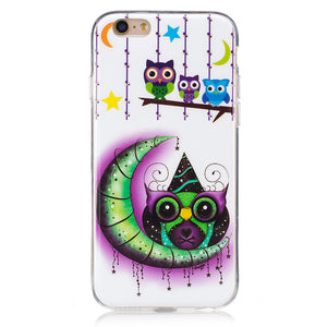 For  IPhone 6/6S IMD Fluorescence Mobile Phone Case Soft TPU Border Protective Shell Colored Painting