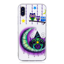 Load image into Gallery viewer, Print Painting Cellphone Case TPU Border IMD Fluorescence Polychrome Back Cover for  IPhone X
