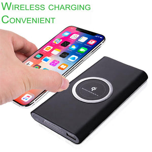 Qi Wireless Charging Power Bank High Capacity 10000 mAh Portable Power Bank and Wireless Charger for iPhone 8 iPhone X and All the Qi Enabled Decices