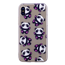 Load image into Gallery viewer, Phone Cover Transparent TPU Case Hugging Panda Pattern Soft Protector Shell for iPhone