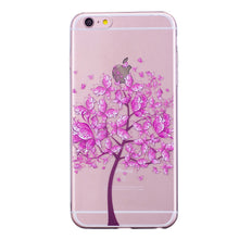 Load image into Gallery viewer, Phone Cover Transparent TPU Case Purple Butterfly Tree Pattern Soft Protector Shell for iPhone