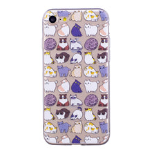 Load image into Gallery viewer, Cute Cartoon Design Phone Cover Transparent TPU Case Kittens Pattern Soft Protector Shell for iPhone