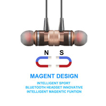 Load image into Gallery viewer, Metal Magnet Wireless Bluetooth Earphone Headset Headphone For iPhone Samsung