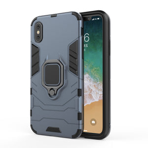 Hybrid Combo Rugged Phone Case Heavy Duty Shockproof Ring Holder Case Hard Back Cover for iPhone