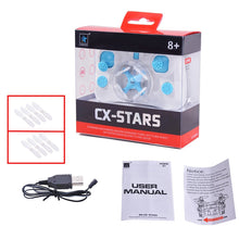 Load image into Gallery viewer, Cheerson CX-STARS Quadcopter World`s Smallest Drone LED Lights 2.4G 4 Channel 25m Blue