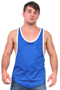 Dri Fit Tank Top 2 Tone Racer Back Royal