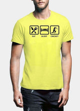 Load image into Gallery viewer, Eat Sleep Cricket Printed Tshirt