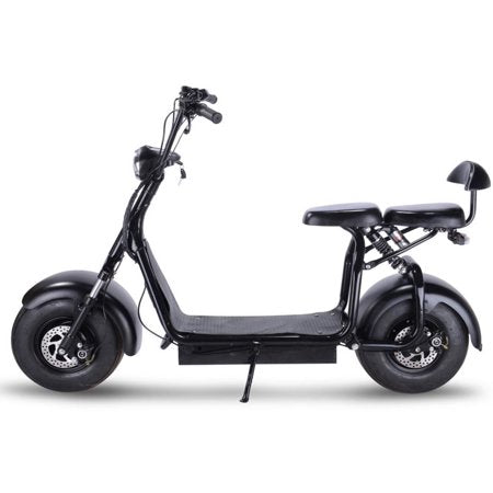 MotoTec Knockout Fat Tire 48v 1000w Electric Scooter Black