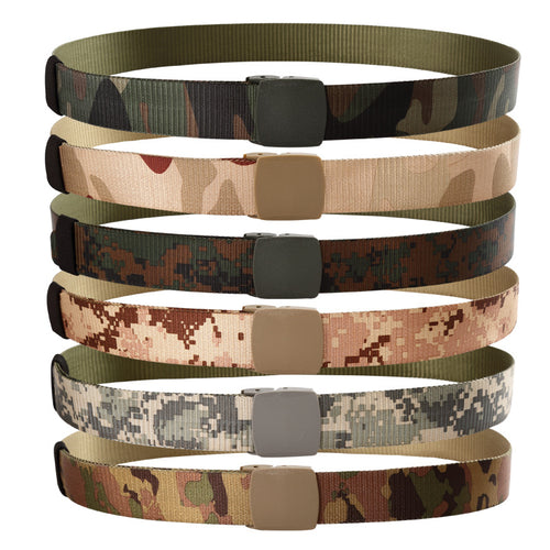 Hot style nylon canvas belt camouflage tactics, high quality design fashion