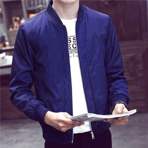 2018 Casual Solid Fashion Slim Bomber Jacket Men Overcoat New Arrival Jackets