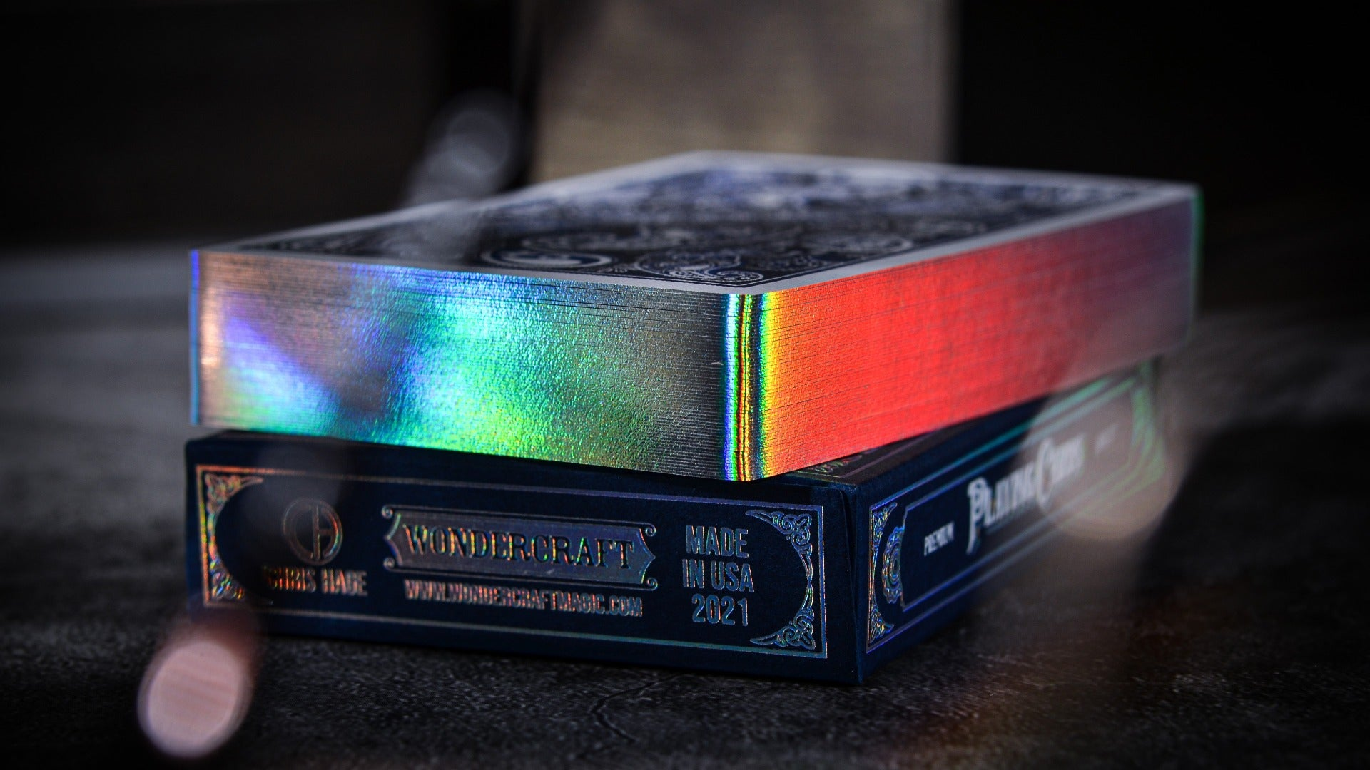 Holographic Gilded Wonder Playing Cards