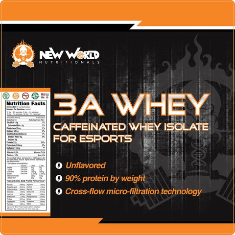 Caffeinated 100% Whey Protein Isolate Protein