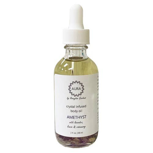 Amethyst Crystal Infused Body Oil