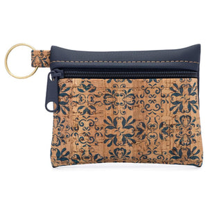 Cork & Vegan Leather Keychain Clutch