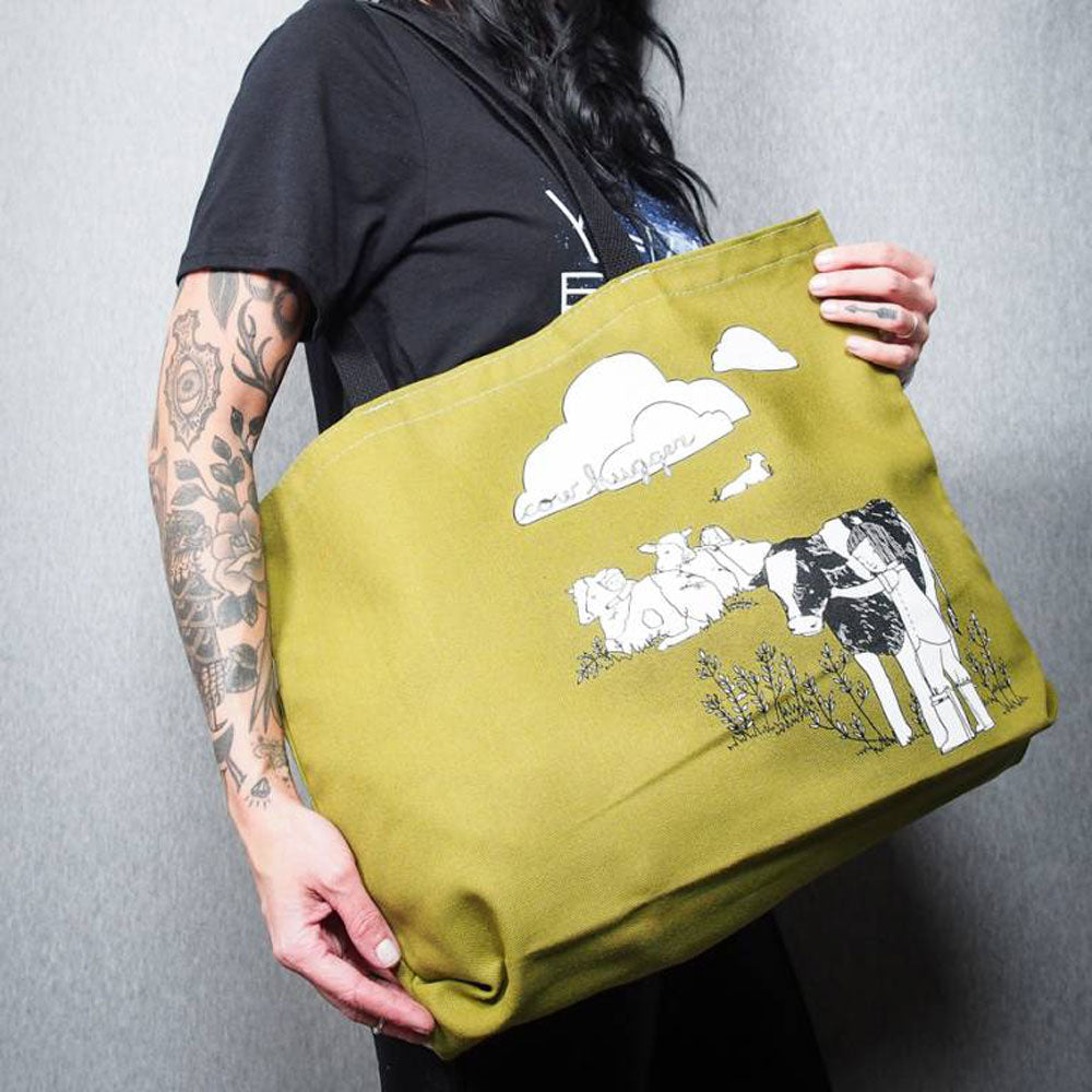 Cow Hugger Tote