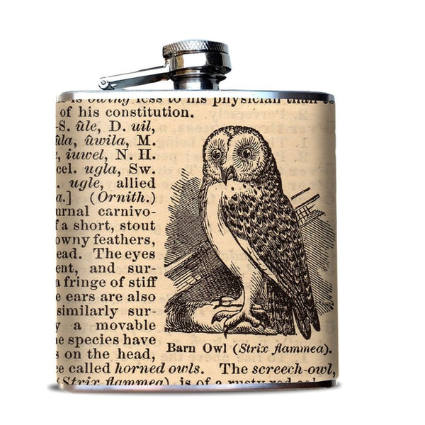 Owl Hip Flask