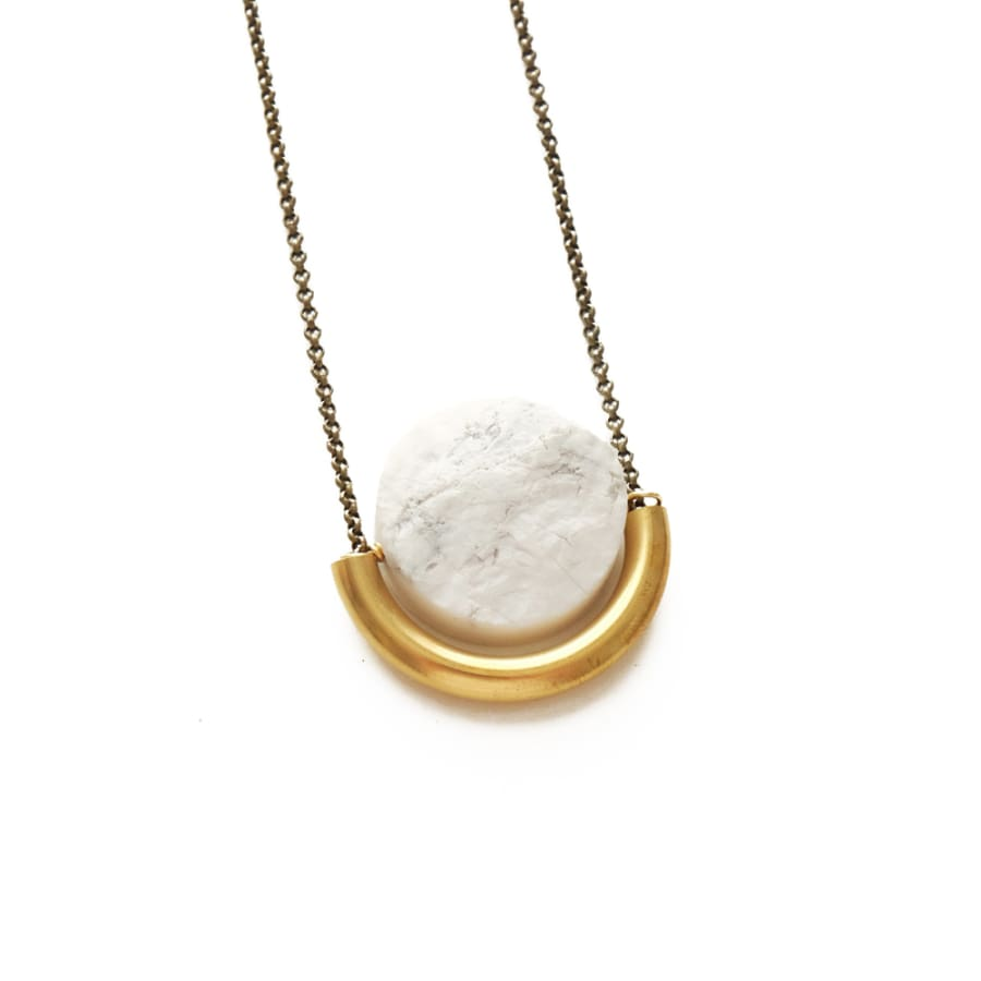 Sun and Moon Necklace - Howlite