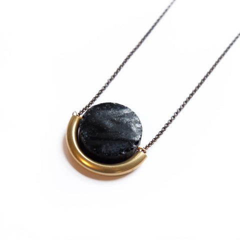 Sun and Moon Necklace - Onyx