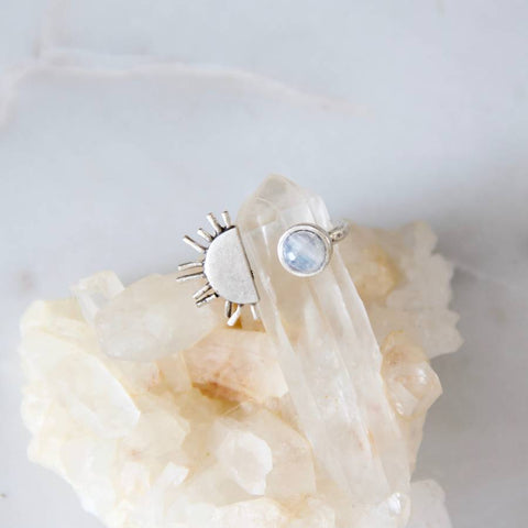 Sun and Moonstone Ring