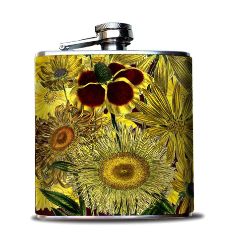 Sunflowers Hip Flask