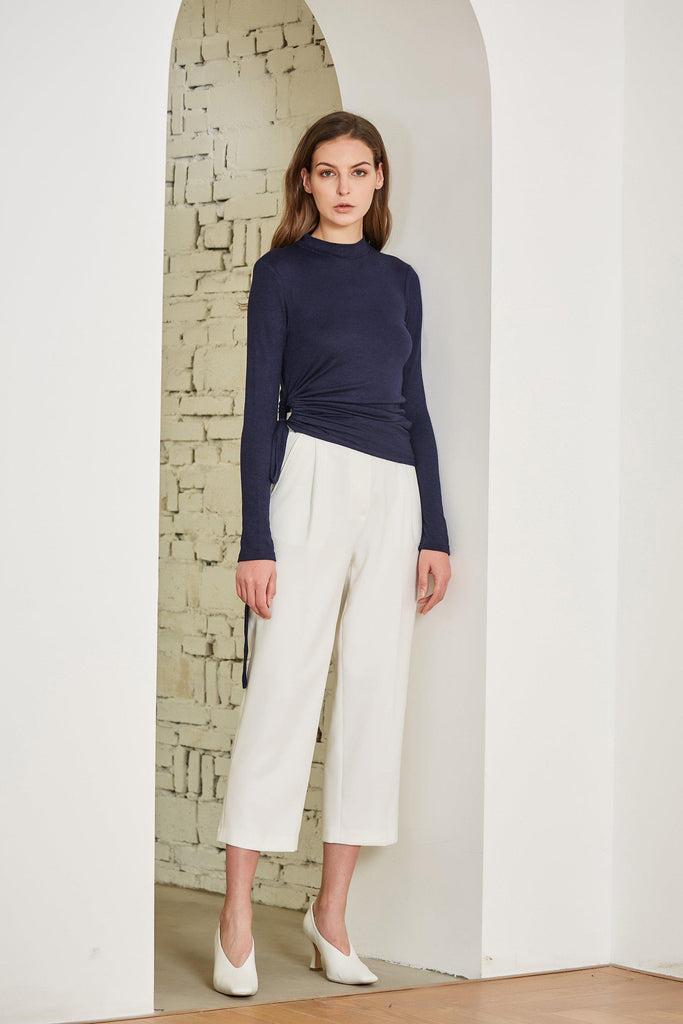 ODYSSEY CROPPED PLEATED CHIFFON PANTS - My Dearest