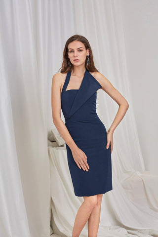 MIRANDA STRETCH CREPE MIDI DRESS - My Dearest