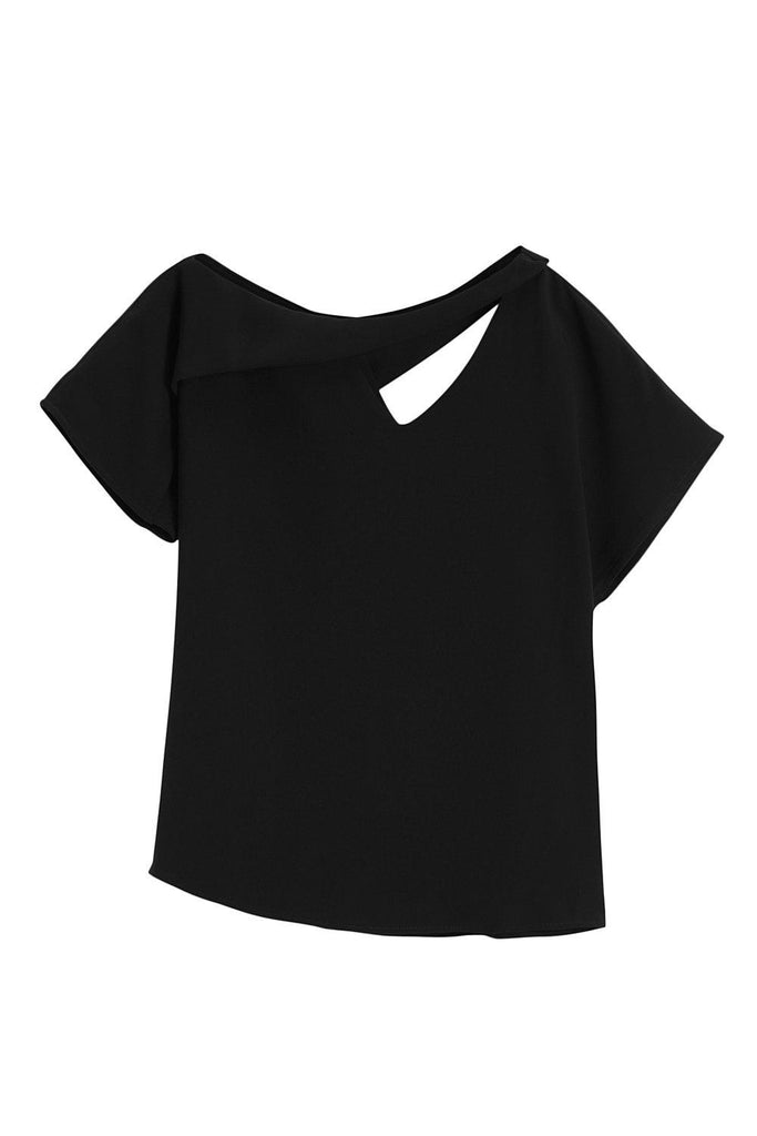 CAMILLA CUTOUT TOP - BLACK