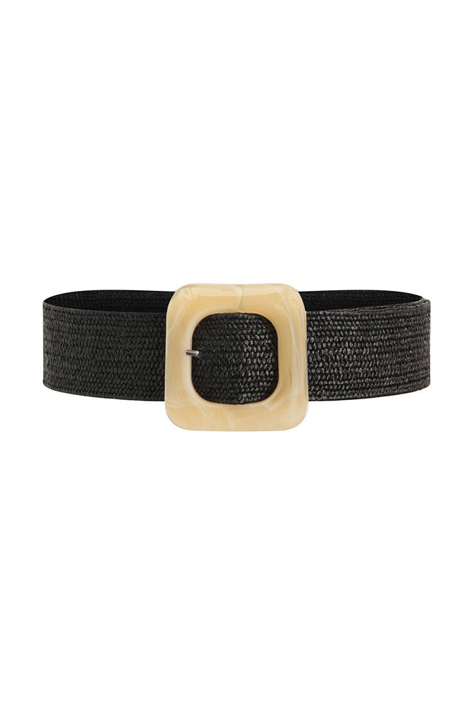 VACATION HOURS WOVEN BELT - BLACK - My Dearest