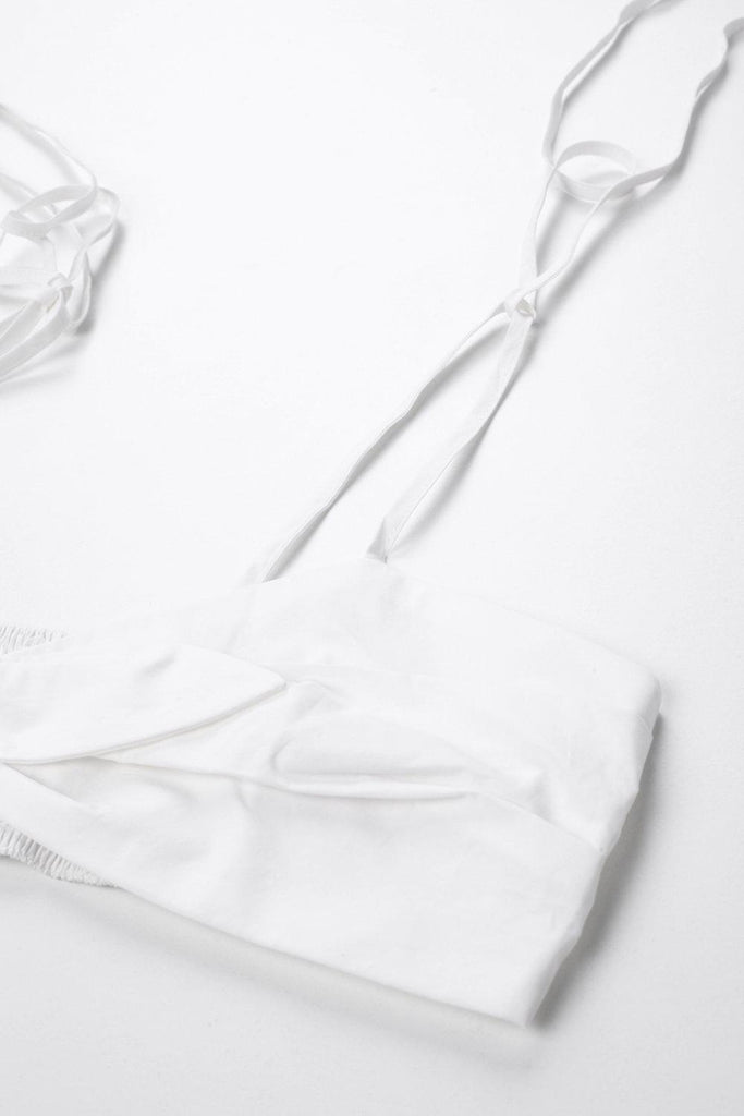 YOUTH COTTON-POPLIN BRA TOP - WHITE-TOPS-My Dearest