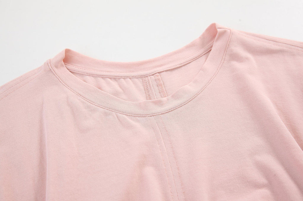 BACKSTAGE GATHERED T-SHIRT - PINK - My Dearest