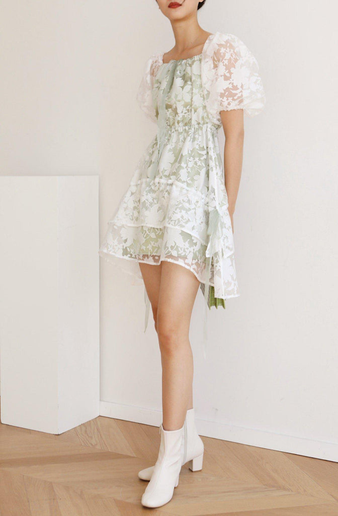FOREST ORGANZA DRESS