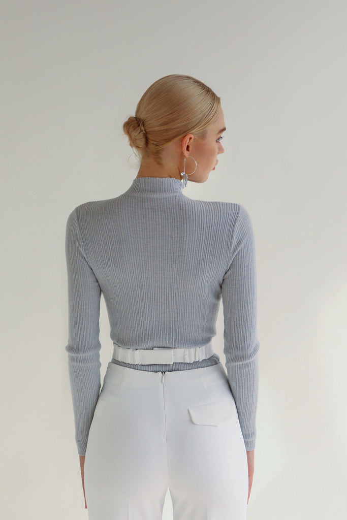 DAILY WOOL BLEND STRETCH KNIT TOP