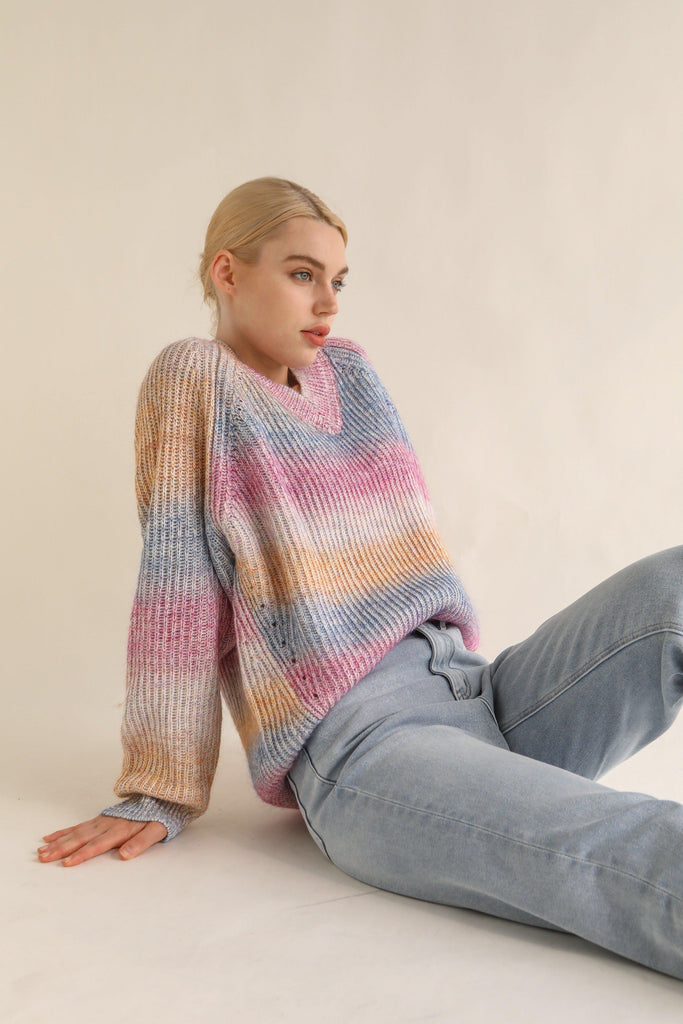 HAPPY MOHAIR AND WOOL BLEND SWEATER