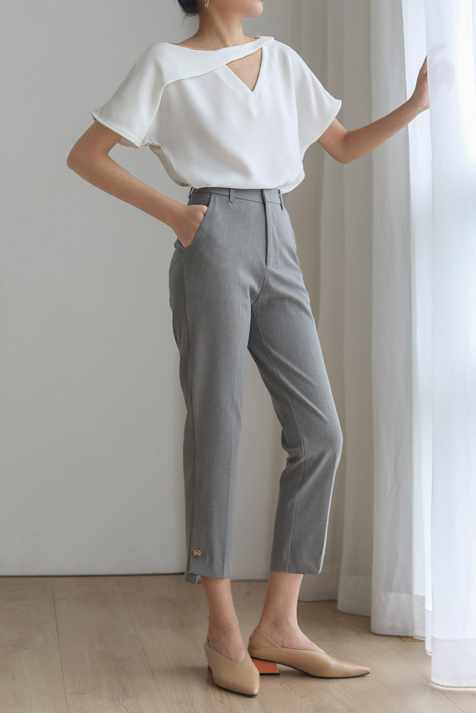 LEE HIGH-RISE STRAIGHT LEG PANTS