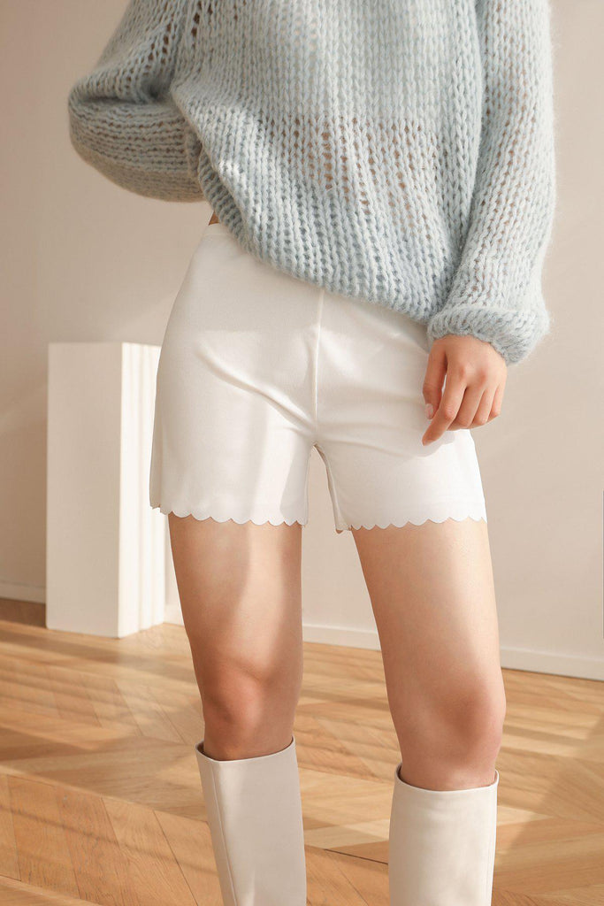 SEAMLESS BOY SHORTS - WHITE-INTIMATE-My Dearest
