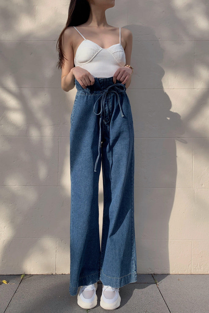 BORN TO BE CHIC WIDE LEG JEANS