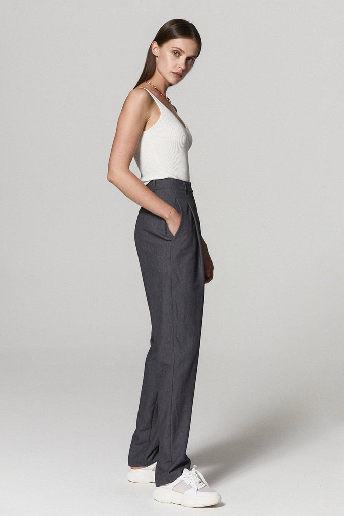 STREET STYLE HIGH RISE TAPERED PANTS - My Dearest
