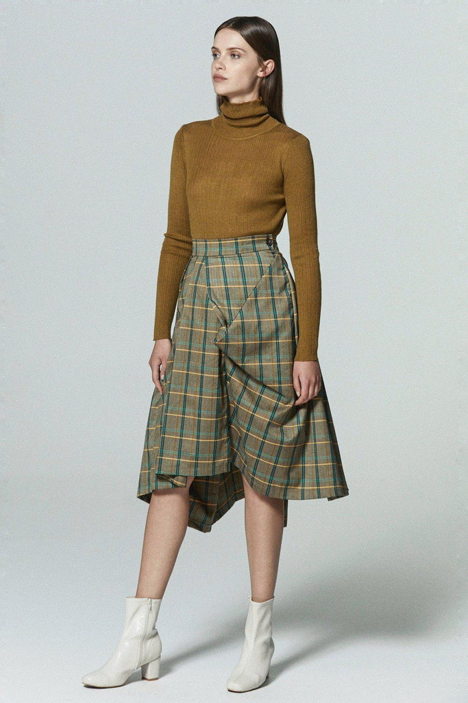 PLAY DATE CHECKED MIDI SKIRT - My Dearest