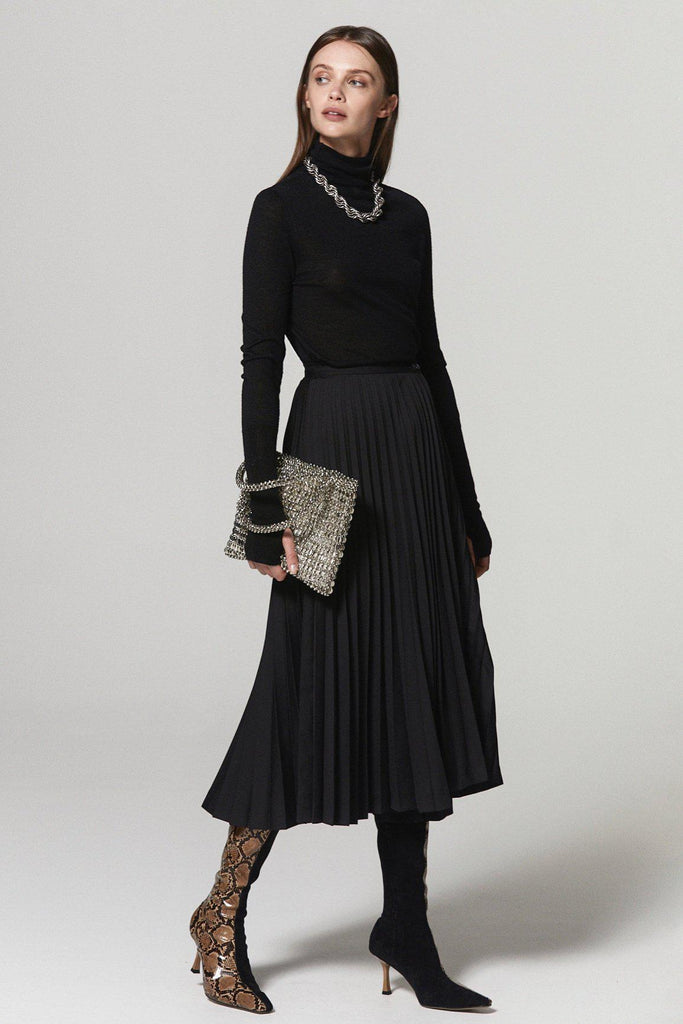 MORE THAN PLEATED MIDI SKIRT - BLACK - My Dearest