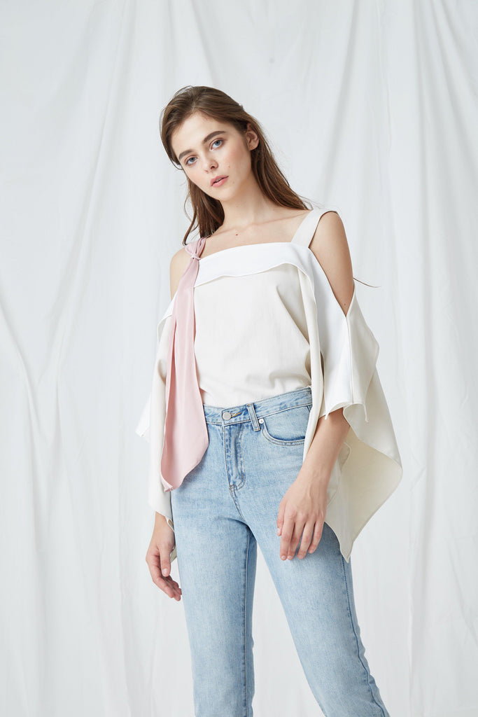 MELODY LAYERED COLD-SHOULDER TOP-TOPS-My Dearest
