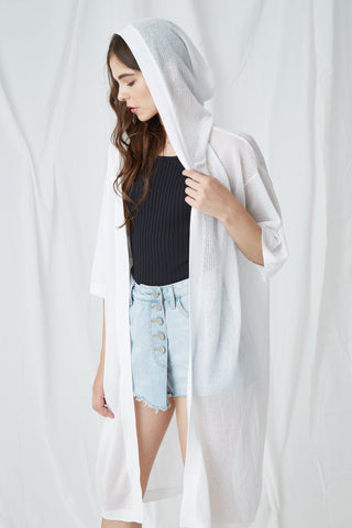 ATTITUDE HOODED KNIT CARDIGAN - My Dearest