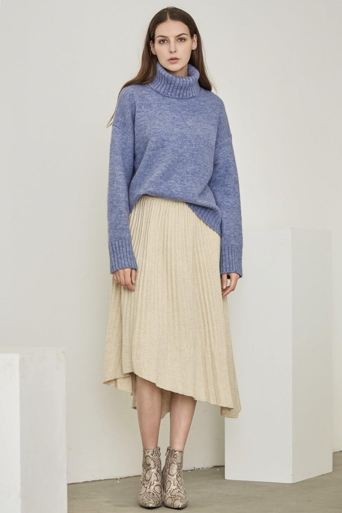 EMMA YAK WOOL BLEND TURTLENECK SWEATER - My Dearest