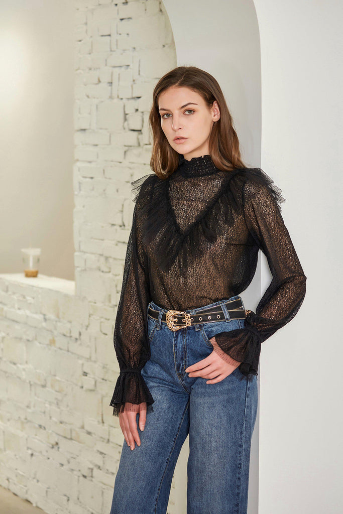 FLOATING TIME LACE BLOUSE-TOPS-My Dearest